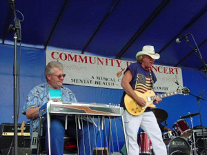 Chris 'Tiny' Olson with the Commander Cody Band