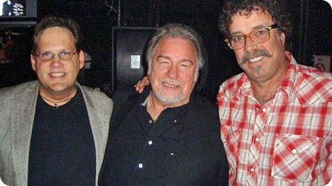 Dirk Johnson, Gene Watson & Monty Holmes backstage at the Grand Ole Opry, Nashville on Tuesday 25 August 2009