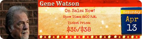 Gene Watson at Renfro Valley Entertainment Center, 2380 Richmond Street, Mt. Vernon, KY 40456 on Saturday 13 April 2019