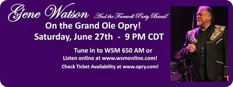 The Grand Ole Opry, 2804 Opryland Drive, Nashville 37214 / Artists who appeared on Saturday 27 June 2015: Connie Smith, Shelley Skidmore, Jesse McReynolds, Mike Snider, Rhett Akins, Warren Haynes featuring Railroad Earth, The Whites, Exile, Opry Square Dancers,  Bill Anderson, Sarah Potenza and Gene Watson