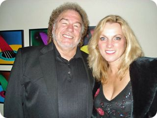 Gene Watson & Rhonda Vincent pictured backstage at the Grand Ole Opry in Nashville on Friday 12 September 2008