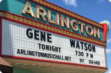 Gene Watson at Arlington Music Hall, 224 N Center Street in Arlington, Texas on Saturday 25 March 2017 / performance time: 7:30pm - 10:00pm