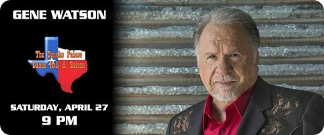 Gene Watson & The Farewell Party Band at The Concho Palace, Dancehall & Saloon, 2581 Sunset Drive, San Angelo, TX 76904 on Saturday 27 April 2019