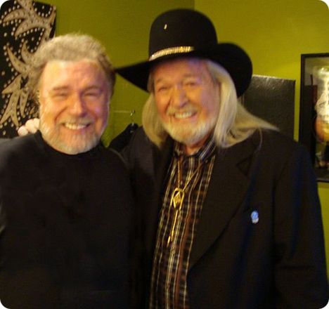 Gene Watson & Mel McDaniel backstage at The Grand Ole Opry in Nashville on Thursday 2 April 2009