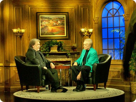Gene Watson with Ralph Emery on the set of 'Ralph Emery - Live' in Nashville on Monday 17 September 2007