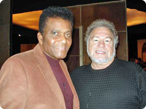 Charley Pride & Gene Watson participating in 'Country Family Reunion' television recording in Nashville on Tuesday 22 January 2008