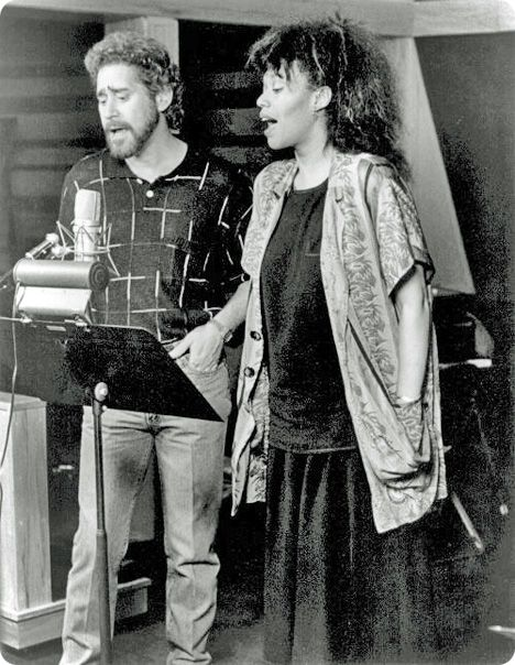 Earl Thomas Conley and Anita Pointer recording 'Too Many Times' (written by Scott Page and Michael Smotherman) (No.2, 1986)
