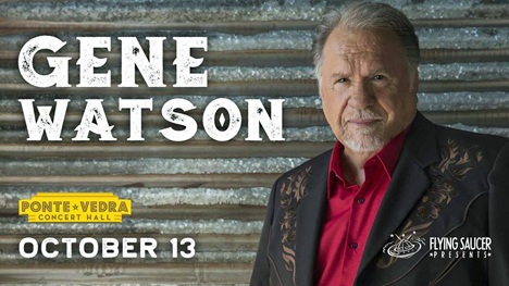 Gene Watson at Ponte Vedra Concert Hall, 1050 A1A North, Ponte Vedra Beach, FL 32082 on Saturday 13 October 2018