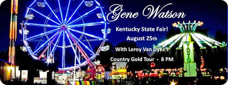 Gene Watson with Leroy van Dyke's 'Country Gold' Tour at Kentucky State Fair, Kentucky on Tuesday 25 August 2015