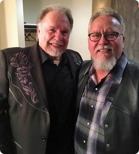 Max T Barnes with Gene Watson, following an appearance at Ryman Auditorium, on Sunday 11 June 2017 (Bobby Bare, Crystal Gale and Charley Pride also played Ryman Auditorium on that day)