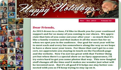 Gene Watson Newsletter / Volume 32 / November/December 2013