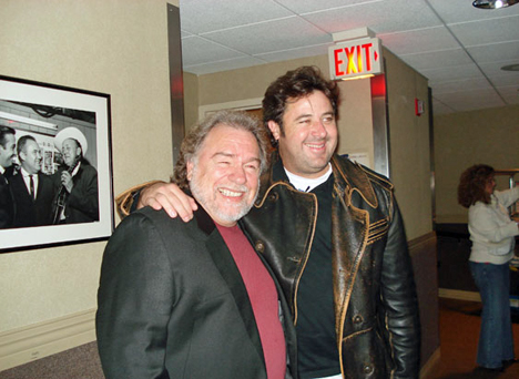 Gene Watson and Vince Gill backstage at The Grand Ole Opry in Nashville on Friday 14 December 2007