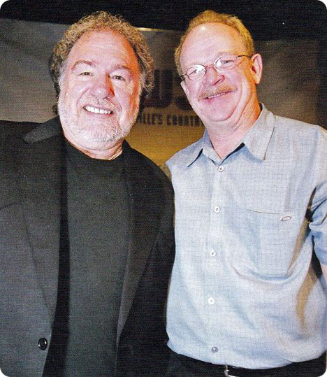 Gene Watson with acclaimed producer and musician Brent Rowan in 2007 (photo credit: Patricia Presley) / Brent Rowan produced Gene Watson's 'In A Perfect World' (Shanachie Records, 2007)