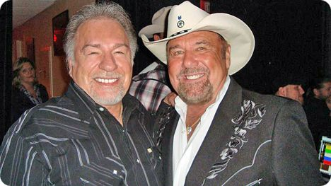 Gene Watson and Johnny Lee backstage at The Grand Ole Opry in Nashville on Thursday 7 October 2010