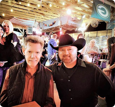 Randy Travis and Tim Culpepper at The Scoreboard Bar & Grill, 2408 Music Valley Drive, Nashville on Saturday 21 April 2018