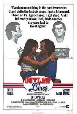 'Outlaw Blues' (Warner Bros. Distribution, 1977), starring Peter Fonda and Susan Saint James (theatrical poster)
