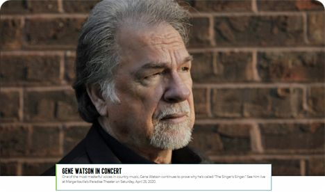 Gene Watson at Margaritaville Resort & Casino, 777 Margaritaville Way, Bossier City, LA 71111 on Saturday 25 April 2020