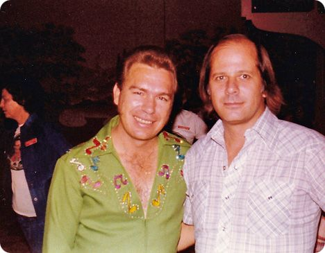 Gene Watson with Weldon Henson's Dad (who is also called Weldon Henson) in 1975