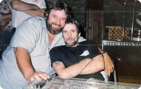 Jim Vest pictured with Johnny Paycheck (Tuesday 31 May 1938 - Wednesday 19 February 2003)