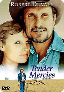 'Tender Mercies' (directed by Bruce Beresford / screenplay by Albert Horton Foote Jr. / starring Robert Duvall, Tess Harper, Betty Buckley, Wilford Brimley, Ellen Barkin and Allan Hubbard / financed by EMI Films / distributed by Universal Pictures / released on Friday 4 March 1983)